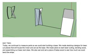 Excerpt from last year's design journals